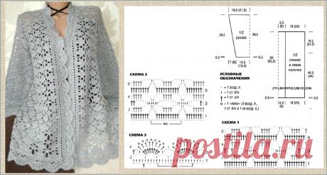 7 оригинальных и очень интересных кофточек, связанных крючком - вяжем в зимние вечера - модели со схемами | МНЕ ИНТЕРЕСНО | Яндекс Дзен