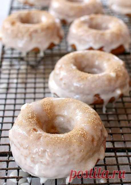 Классические дрожжевые пончики, в духовке.