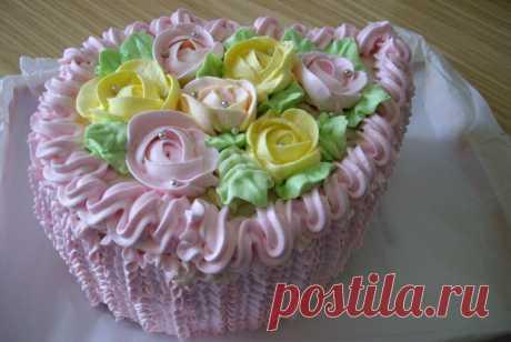 Бисквитный торт с апельсиново-мятной пропиткой и меренгами рецепт – югославская кухня: выпечка и десерты. «Еда»