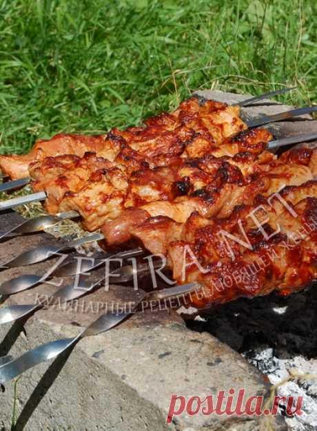 Шашлык из свинины в томатном соке - Антрекот - большая кулинарная книга рецептов