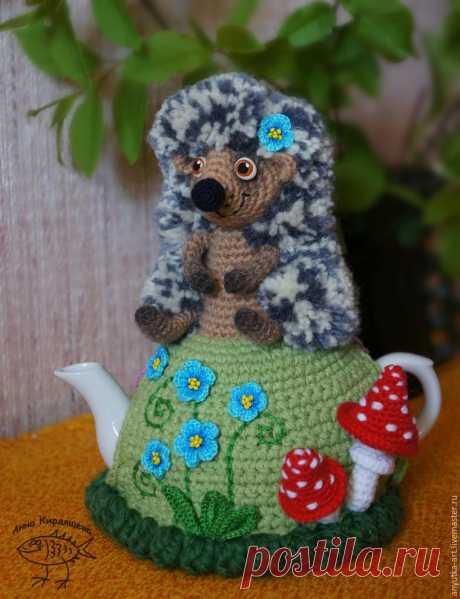 """Вяжем грелку на чайник """"Ежик"""" - Ярмарка Мастеров - ручная работа, handmade"""