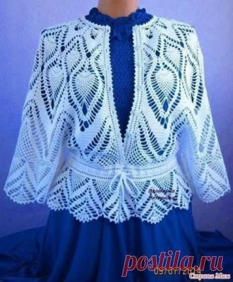 Роскошная блуза для роскошных женщин. Схемы вязания крючком
