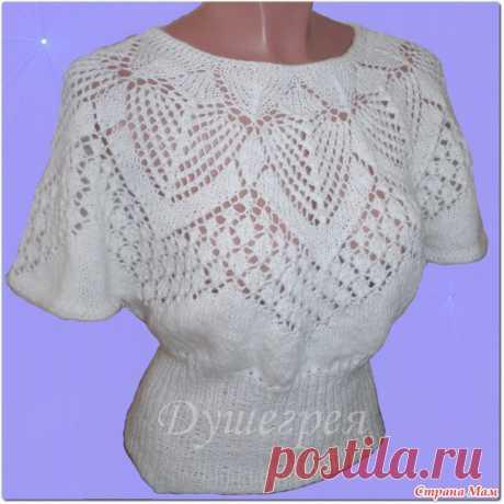Ажурный пуловер - Вязание - Страна Мам
