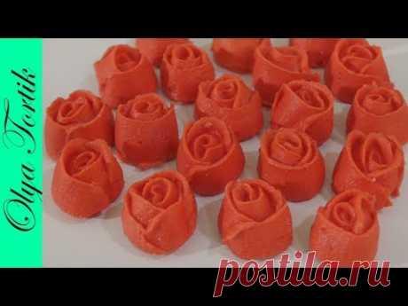 РОЗЫ из айсинга Как сделать розы из айсинга Рецепт глазури