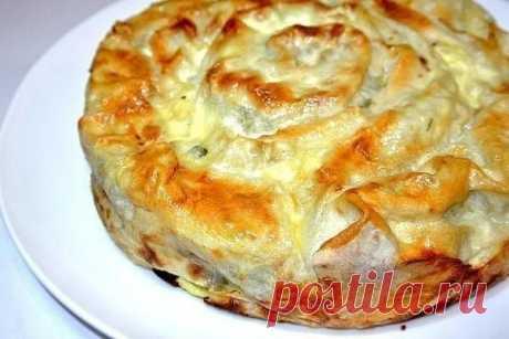 Пирог из лаваша с творогом и сыром | Вкуснейшая кухня | Яндекс Дзен