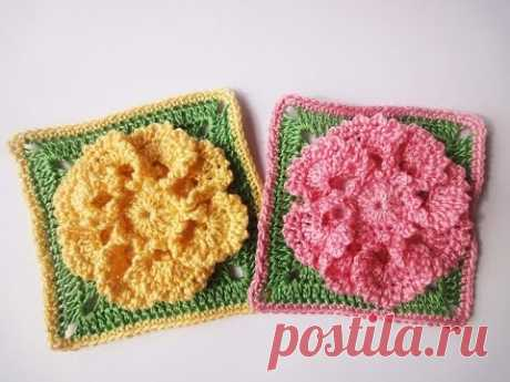 Flower in a square of Flower in a square Crochet