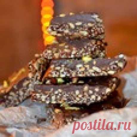 Брауни с семечками, кунжутом и финиками Кулинарный рецепт