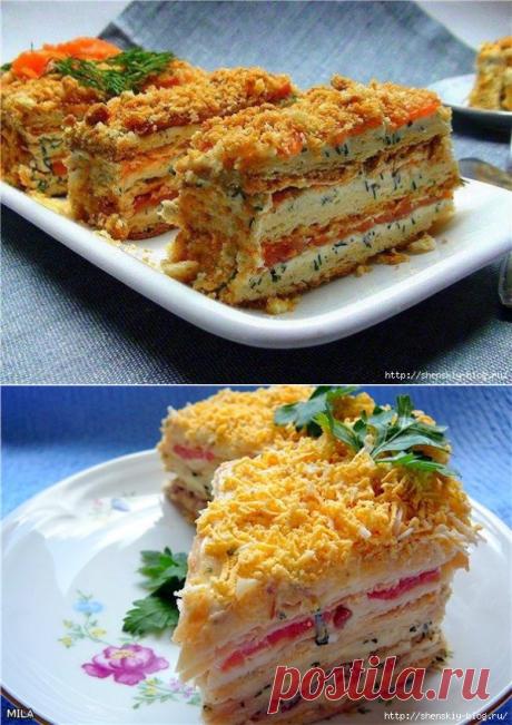 """Закуска """"Наполеон""""проще простого, вкуснотень!"""