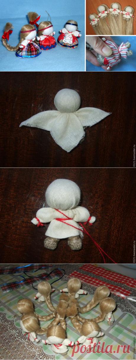 Создаем куколку «На счастье» в традиционной текстильной народной технике.... Просто, красиво и быстро!