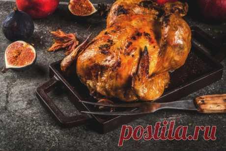 Курица, фаршированная инжиром — Sloosh – кулинарные рецепты