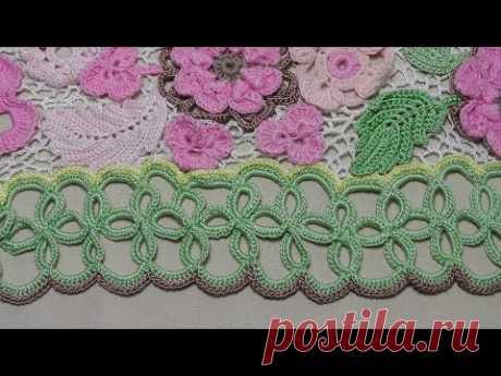 Ленточное кружево для подола платья. Обвязка низа платья- Crochet Lace - www.fassen.net-Видео сёрфинг