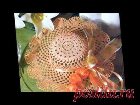 Кружевные шляпы к лету Схемы вязания шляпки крючком