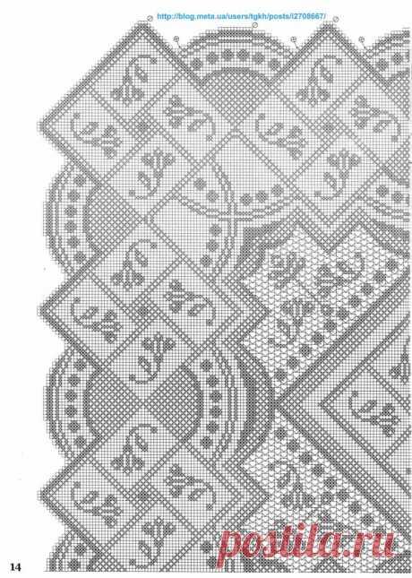 """Блог """"tgkh"""". Красивая прямоугольная скатерть вязаная крючком (для столовой, фантазийная), Блог пользователя tgkh"""
