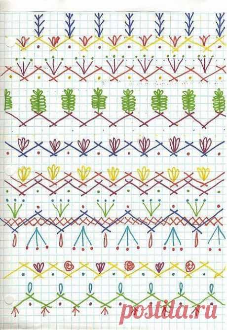 Seam Designs for crazy quilt #Crazyquilting