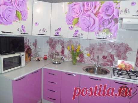 Кухня в нежном сиреневом цвете!   OK.RU