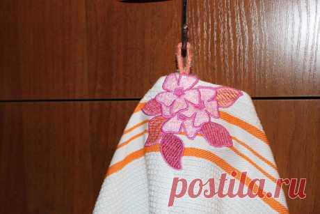 "вешалка для полотенца ""Цветы"""