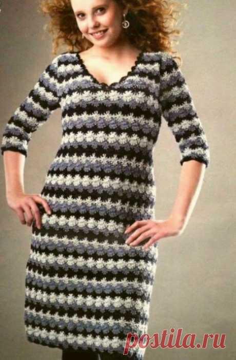 Интересное платье крючком