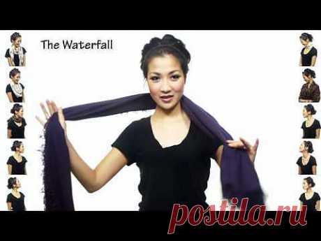 забавное видео о 25 способах завязать шарф / Как носить? / ВТОРАЯ УЛИЦА
