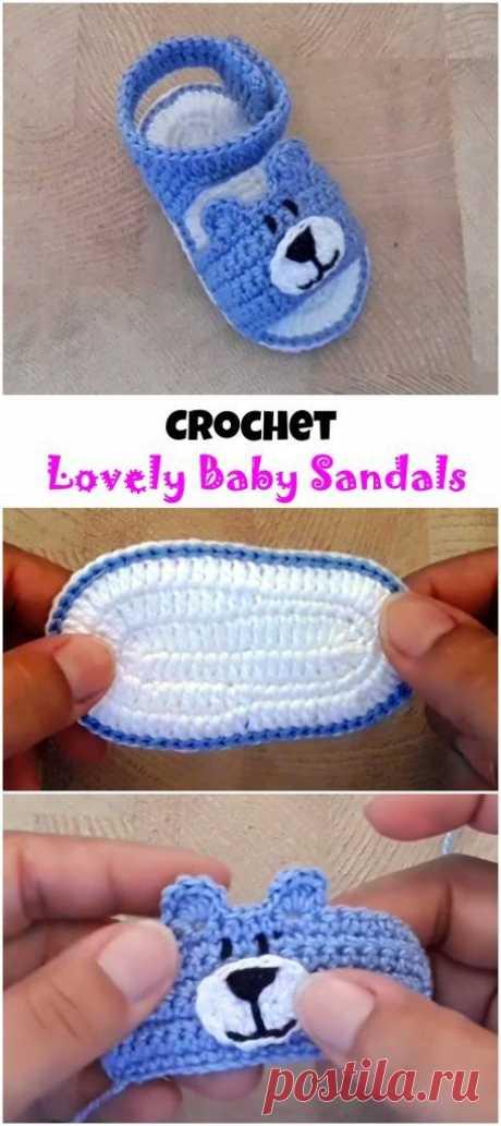 Crochet Lovely Baby Sandals - We Love Crochet