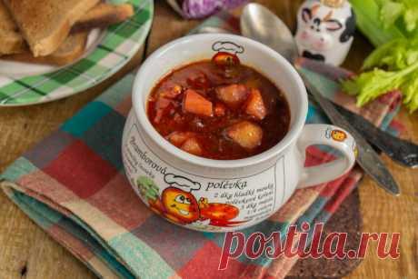 Полезный вегетарианский суп из краснокочанной капусты. Пошаговый рецепт с фото — Ботаничка.ru