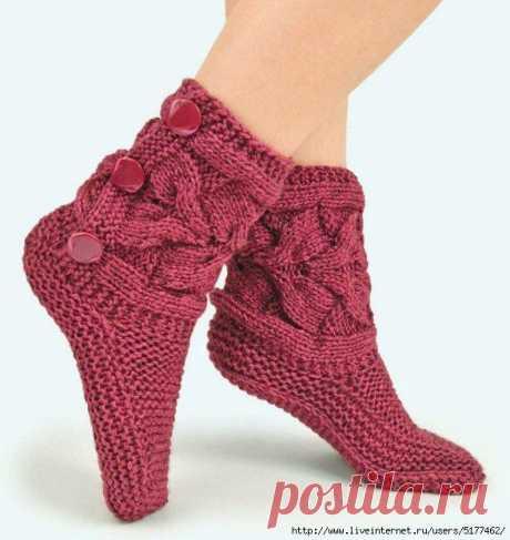 Вязаные носки спицами, схема, мастер класс