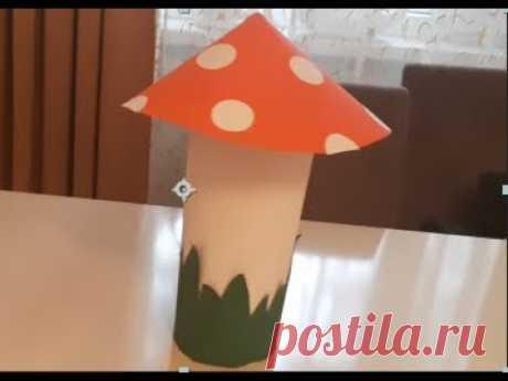Как сделать большой гриб своими руками из бумаги