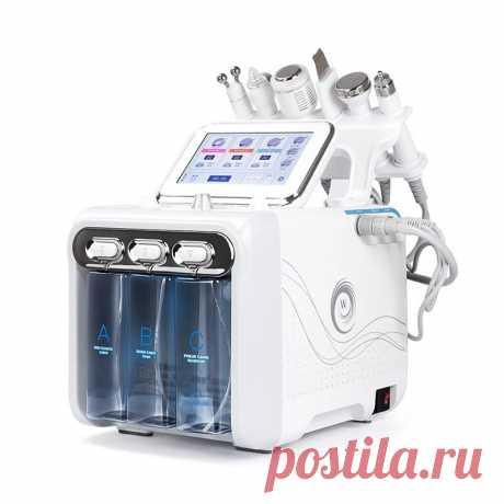6 in 1 oxygen hydrogen bubbles water dermabrasion machine deep clean machine water jet hydro diamond facial clean dead skin removal salon Sale - Banggood.com