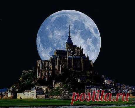замок Мон-Сен-Мишель,Нормандия,Франция.