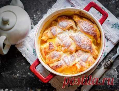 Слойки с мандаринами  Ингредиенты:  Слоеное тесто — 250 г Мандарины — 100 г Куриный желток — 1 шт. Апельсиновый сок — 200 мл Масло сливочное — 100 г Сахар — 80 г  Приготовление:  1. Духовку прогрейте до 180 C. 2. В кастрюлю влейте сок, добавьте масло и сахар, варите соус 10 минут. 3. Слоеное тесто раскатайте, чтобы получился квадрат. Нарежьте тесто на небольшие прямоугольные заготовки. На край каждой заготовки выложите по дольке мандарина. Сверните заготовку, чтобы вышли р...