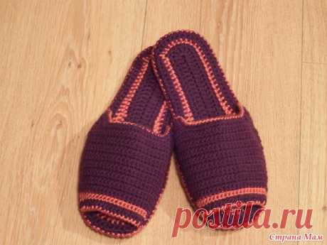 Slippers for the Cinderella))) with the description. - Knitting - the Country of Mothers