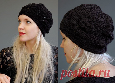 """Fashionable cap spokes of \""""Jole\"""" from Kim Hargreaves - the Humming-bird you do not know what hat to connect to yourself for the fall? Consider option of a Jole cap from the designer of Kim Hargr"""