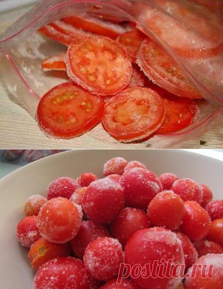 Как меня научили замораживать помидоры: зимой они очень вас выручат | Дачная страна | Яндекс Дзен