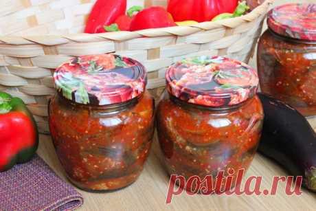 Баклажаны в аджике на зиму – самый вкусный рецепт
