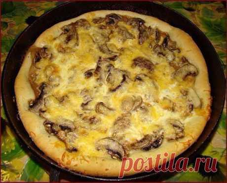Как приготовить пиццу-пирог с грибами