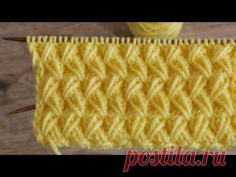 Резинка из вытянутых петель спицами | « Rib whith elongated stitches» knitting pattern