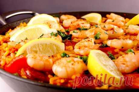 Паэлья с креветками — Sloosh – кулинарные рецепты