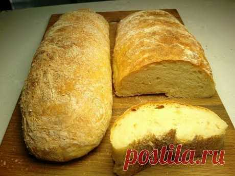 Хлеб без замеса. Получится у КАЖДОГО! 1.мука  -  1 кг., 2.вода  -  0,8-0,9л., 3.дрожжи сухие-1 ст.л., 4.сахар - 1 ст.л., 5.соль  -  1 ст.л., 6.масло раст.-2ст.л..