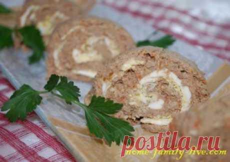 Рулет печеночный - пошаговый рецепт с фотоКулинарные рецепты
