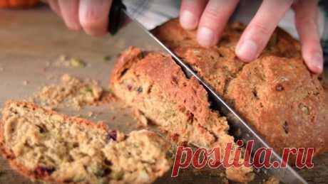 Рецепт вкусного бездрожжевого хлеба из цельнозерновой муки