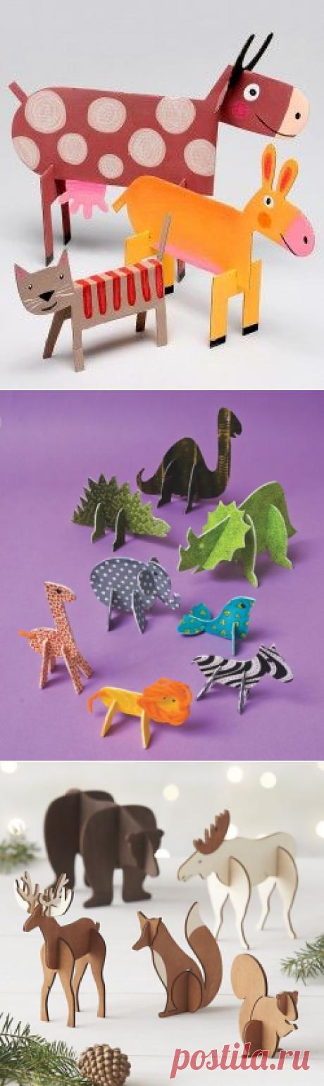 Los modelos de los animales volumétricos - el Artículo con los niños | Detkipodelki