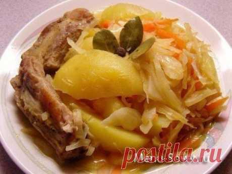 Рецепт овощного рагу со свиными ребрышками