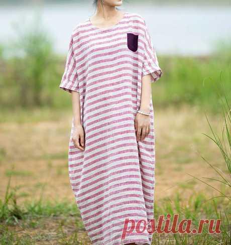Womens linen long dress summer maxi dress linen kaftan   Etsy