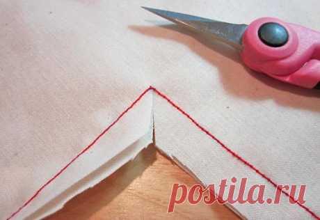 Правильная обработка углов (Шитье и крой)   Журнал Вдохновение Рукодельницы