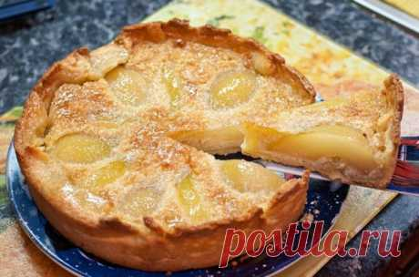 Заливной пирог с грушами на сметанном тесте – вкусно и быстро! | Fat Recipe | Яндекс Дзен