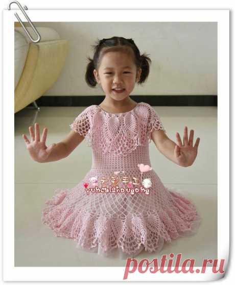 Живем С ИСКУССТВОМ: Платье детское крючком