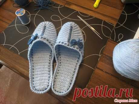Тапочки - Вязание - Страна Мам