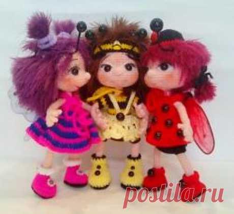 Куколка Катюша. - МК по вязанию игрушек - Форум почитателей амигуруми (вязаной игрушки)