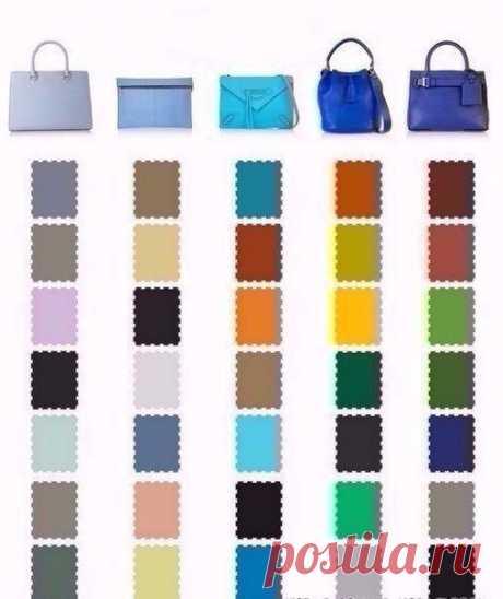 Какого цвета туфли подобрать к сумочке?   Забирай себе на стену, чтоб не потерять!