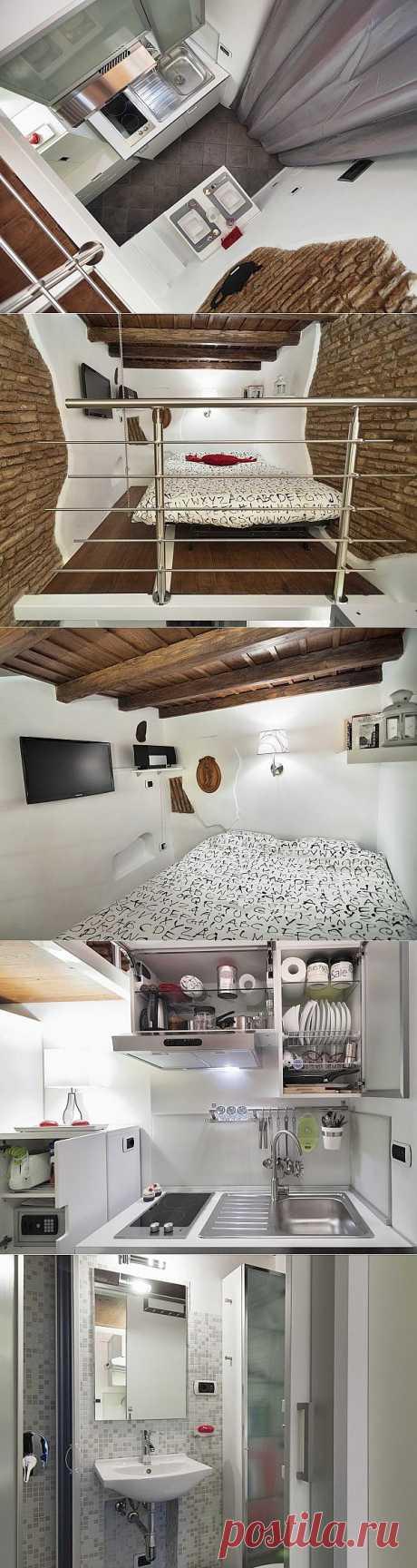 Smallest House: самая маленькая квартира в Италии | Идеи вашего дома | Архитектура и интерьер