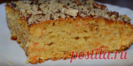 Яблочно-морковный пирог: постный и очень вкусный